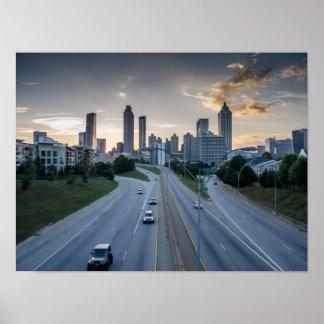 Atlanta Skyline Poster