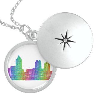 Atlanta skyline round locket necklace