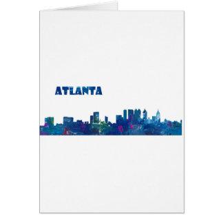 Atlanta Skyline Silhouette Card