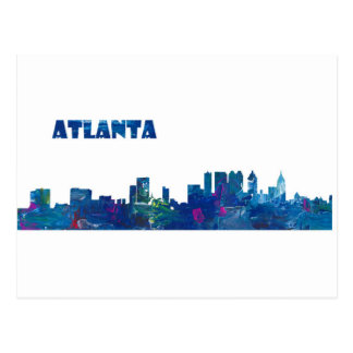 Atlanta Skyline Silhouette Postcard