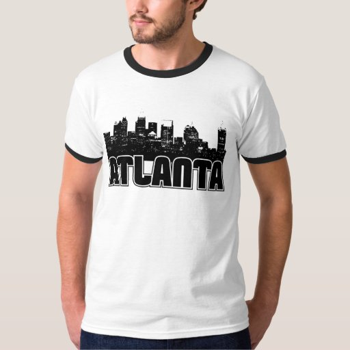 Atlanta Skyline T Shirt Zazzle