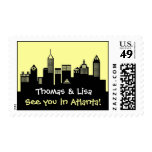 Atlanta Skyline Wedding Stamp
