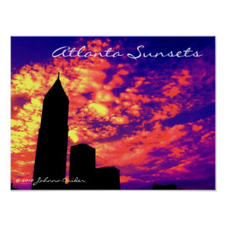 Atlanta Sunsets Poster
