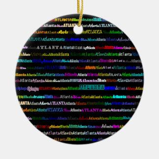 Atlanta Text Design I Circle Ornament