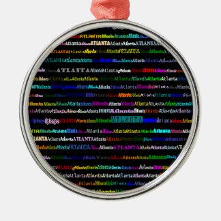 Atlanta Text Design I Premium Round Ornament