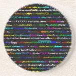 Atlanta Text Design I Sandstone Coaster