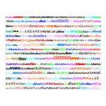 Atlanta Text Design II Postcard