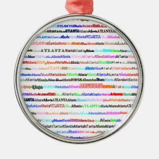 Atlanta Text Design II Premium Round Ornament