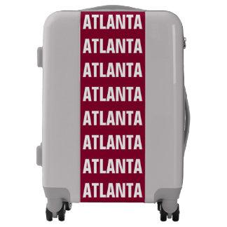 ATLANTA, Typo white Luggage