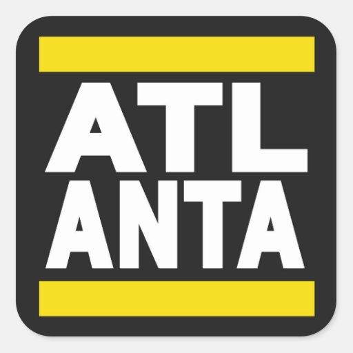 Atlanta Yellow Square Stickers