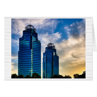 Atlanta's Beautiful King & Queen Towers Card