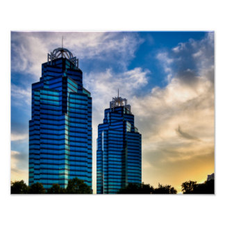 Atlanta's King & Queen Towers 14x11 Archival Poster