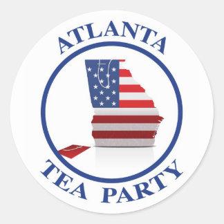 AtlantaTeaParty6 Classic Round Sticker