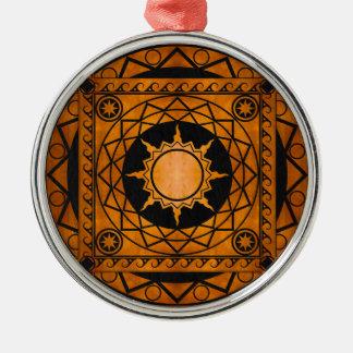Atlantean Crafts Copper on Black Leather Metal Ornament