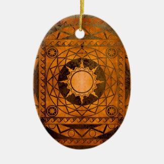 Atlantean Crafts Copper on Bronze Ceramic Ornament