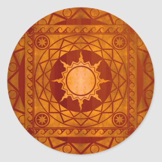 Atlantean Crafts Copper on Cherry Wood Classic Round Sticker