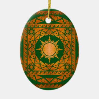 Atlantean Crafts Copper on Green Ceramic Ornament