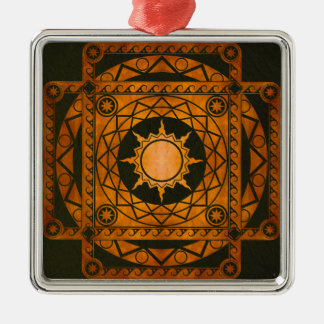 Atlantean Crafts Copper on Green Leather Metal Ornament