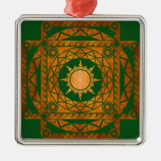 Atlantean Crafts Copper on Green Metal Ornament