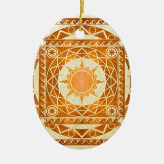 Atlantean Crafts Copper on Parchment Ceramic Ornament
