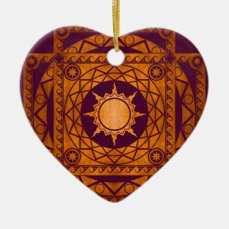 Atlantean Crafts Copper on Purple Ceramic Ornament