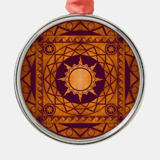 Atlantean Crafts Copper on Purple Metal Ornament