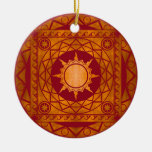Atlantean Crafts Copper on Red Christmas Ornament