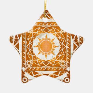 Atlantean Crafts Copper on White Marble Ceramic Ornament