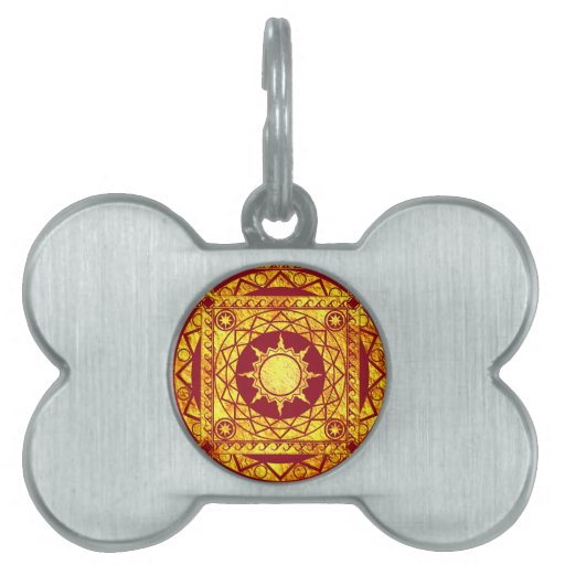 Atlantean Crafts Gold on Red Pet Name Tag