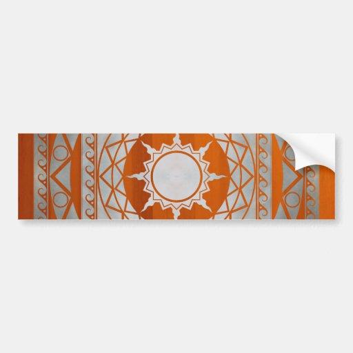 Atlantean Crafts Silver on Amber Wood Car Bumper Sticker