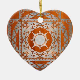 Atlantean Crafts Silver on Amber Wood Ceramic Ornament