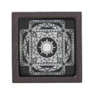 Atlantean Crafts Silver on Black Jewelry Box