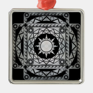 Atlantean Crafts Silver on Black Metal Ornament