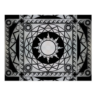 Atlantean Crafts Silver on Black Postcard