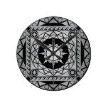 Atlantean Crafts Silver on Black Wall Clock