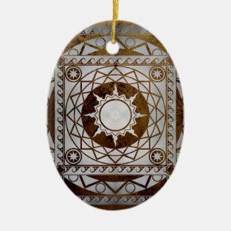 Atlantean Crafts Silver on Bronze Ceramic Ornament