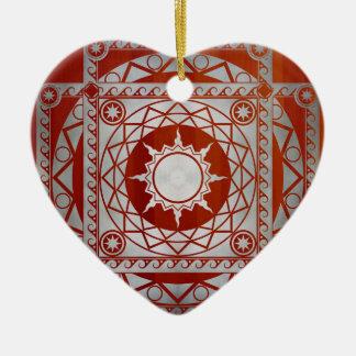 Atlantean Crafts Silver on Cherry Wood Ceramic Ornament