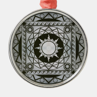 Atlantean Crafts Silver on Green Leather Metal Ornament