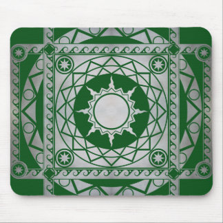 Atlantean Crafts Silver on Green Mouse Pad