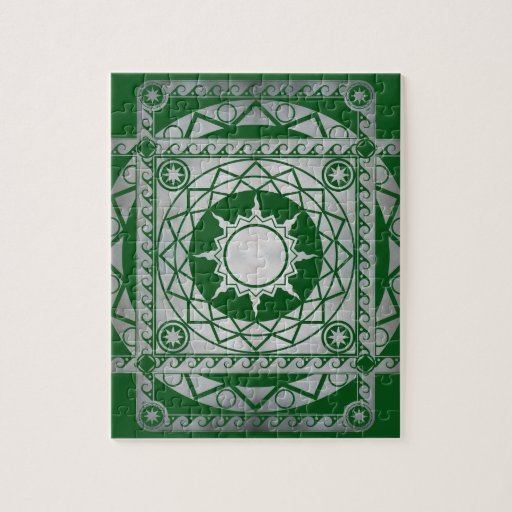 Atlantean Crafts Silver on Green Puzzle