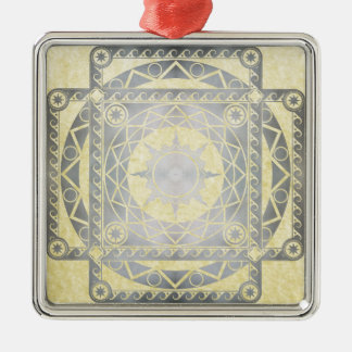 Atlantean Crafts Silver on Parchment Metal Ornament