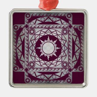 Atlantean Crafts Silver on Purple Metal Ornament
