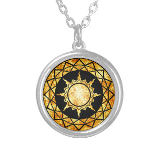 Atlantean Gold on Black Pendant