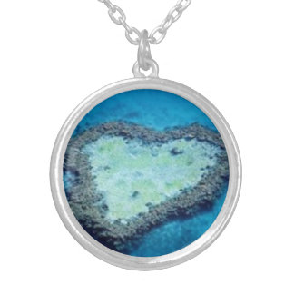 Atlantean Heart Talisman Silver Plated Necklace