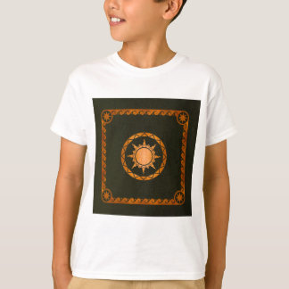 Atlantean Sky Copper on Green Leather T-Shirt