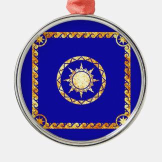 Atlantean Sky on Blue Metal Ornament