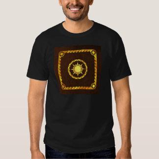 Atlantean Sky on Brown Leather Shirt