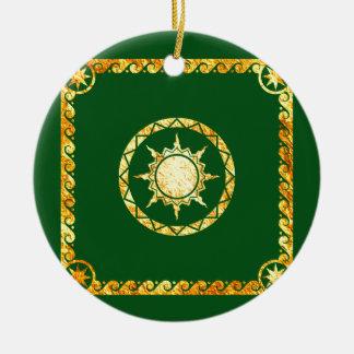Atlantean Sky on Green Ceramic Ornament