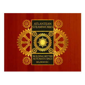 Atlantean Steamworks - Gold and Green on Cherrywoo Postcard