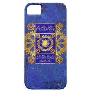 Atlantean Steamworks - Gold & Blue on Lapis Lazuli iPhone 5 Cases